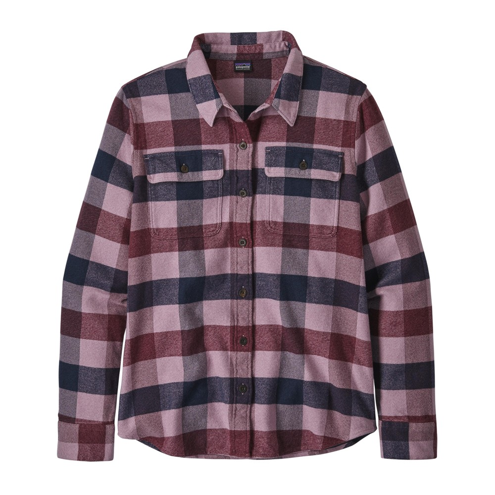 Patagonia LS Fjord Flannel Shirt Womens Upriver:Light Balsamic