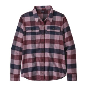 Patagonia LS Fjord Flannel Shirt Womens in Upriver:Light Balsamic