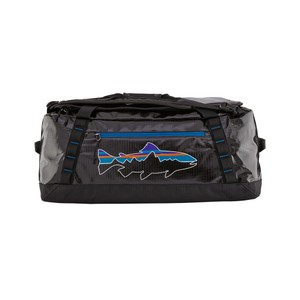 Patagonia Black Hole Duffel 55L in Black/Fitz Trout
