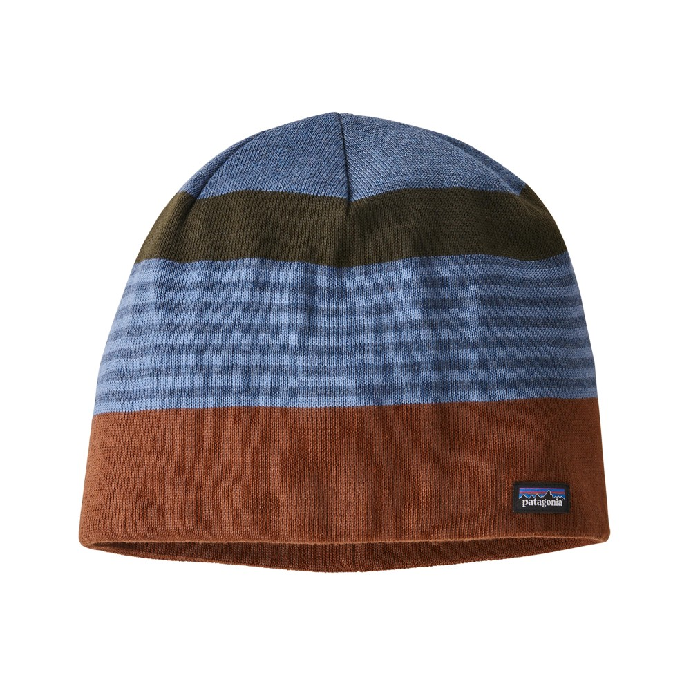 Patagonia Beanie Hat Fitzroy Stripe:Sisu Brown