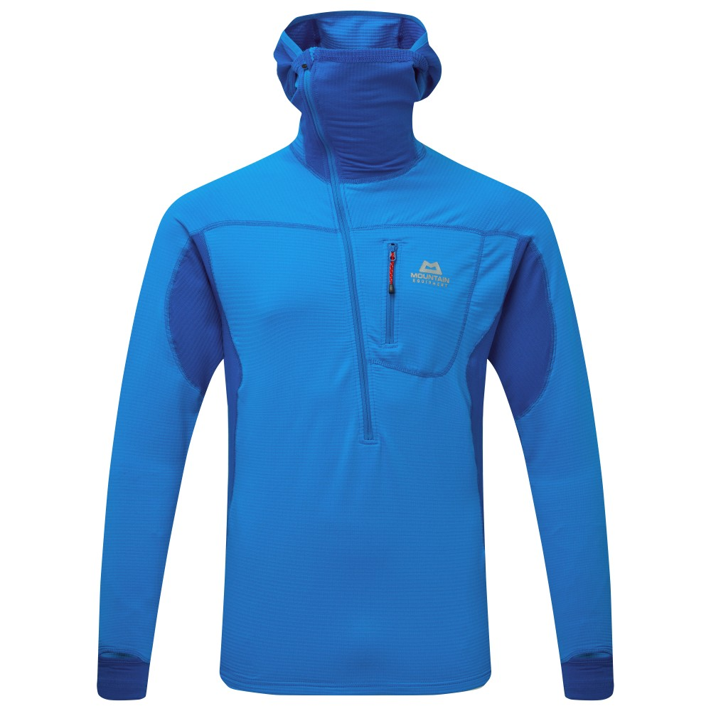 Mountain Equipment Eclipse Hooded Zip T Mens Finch Blue/Lapis