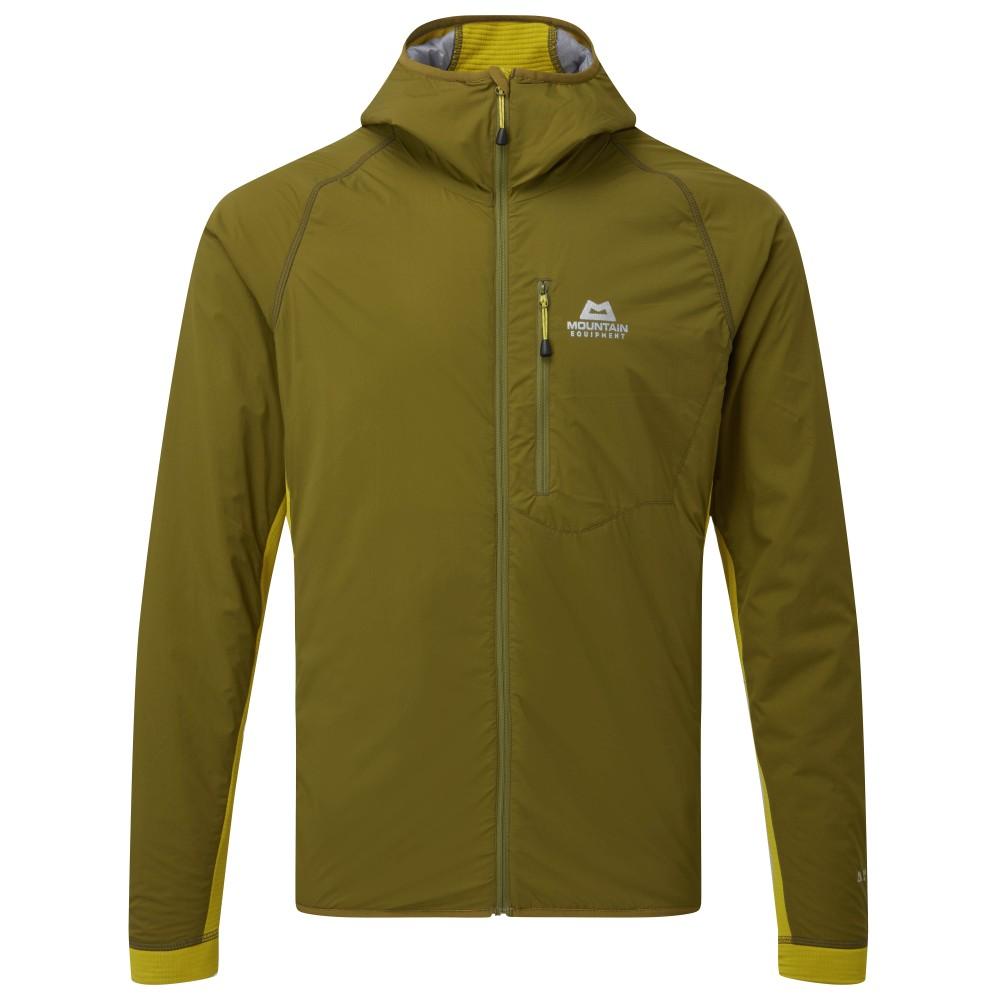 Mountain Equipment Switch Pro Hooded Jacket Mens Fir Green/Acid