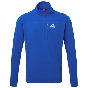 Mountain Equipment Micro Zip Tee Mens in Lapis Blue