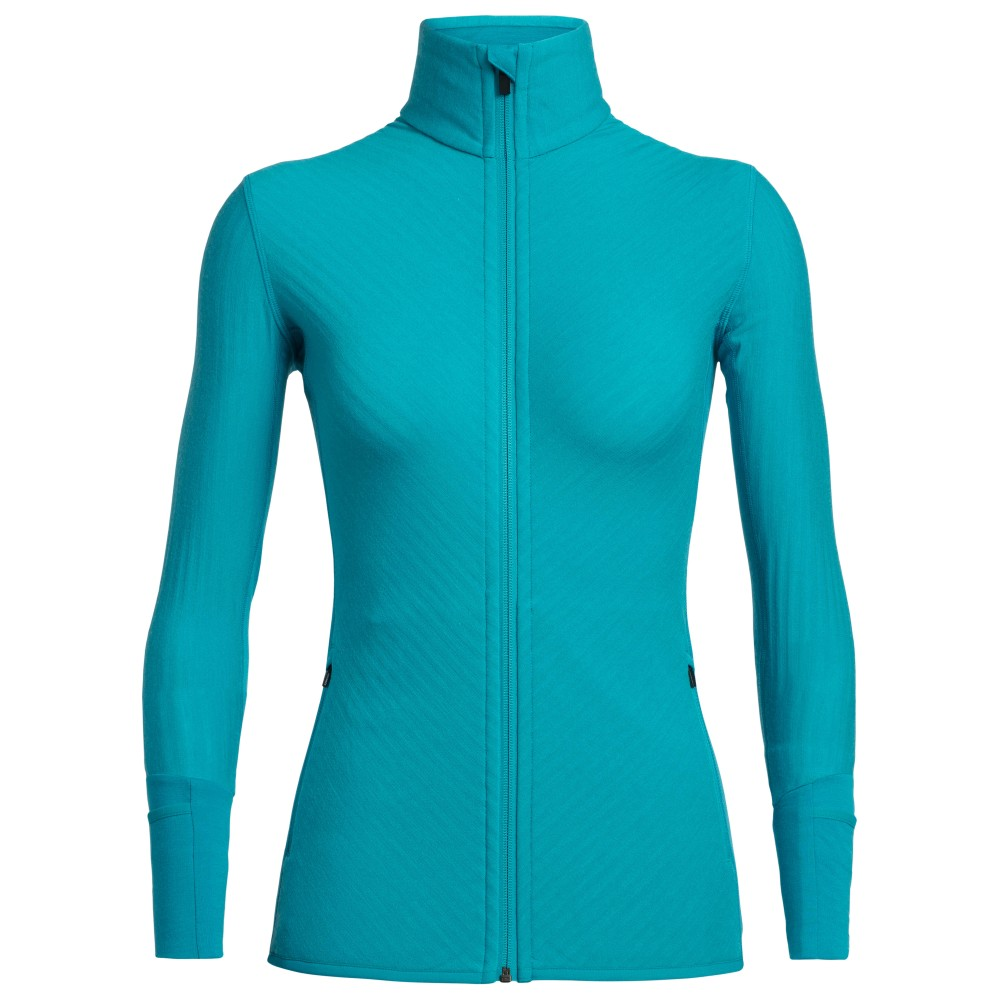 Icebreaker Descender LS Zip Womens Arctic Teal
