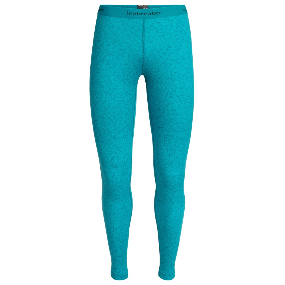 Icebreaker Oasis 200 Leggings Sky Paths Womens Arctic Teal