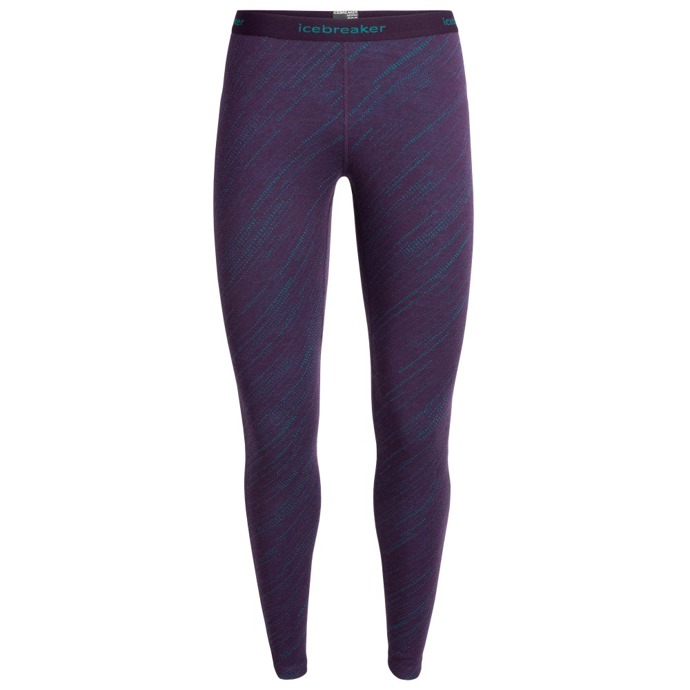 Icebreaker Vertex 250 Leggings Snow Storm Womens Lotus