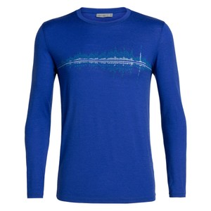 Icebreaker Tech Lite LS Crewe Snow Wave Mens