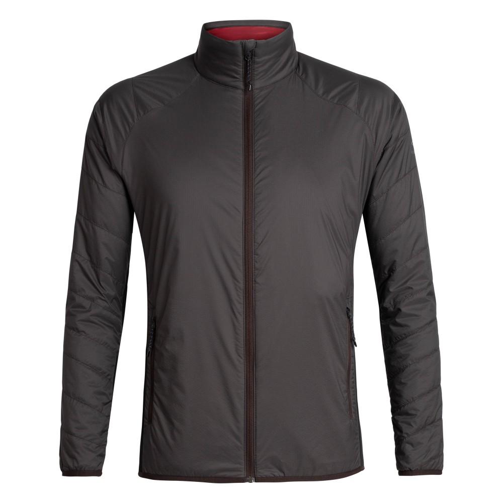 Icebreaker Hyperia Lite Hybrid Jacket Mens Charred/Black