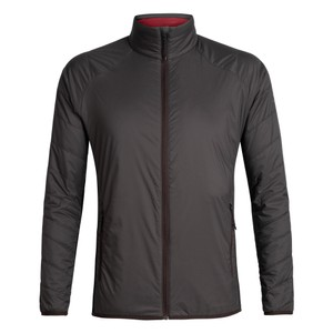 Icebreaker Hyperia Lite Hybrid Jacket Mens in Charred/Black