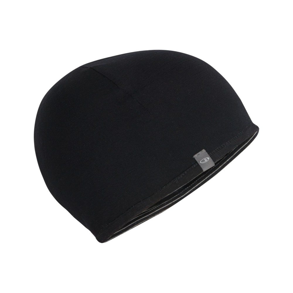 Icebreaker Pocket Hat Black/Snow