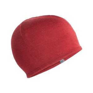 Icebreaker Pocket Hat in Cabernet/Gritstone Heather