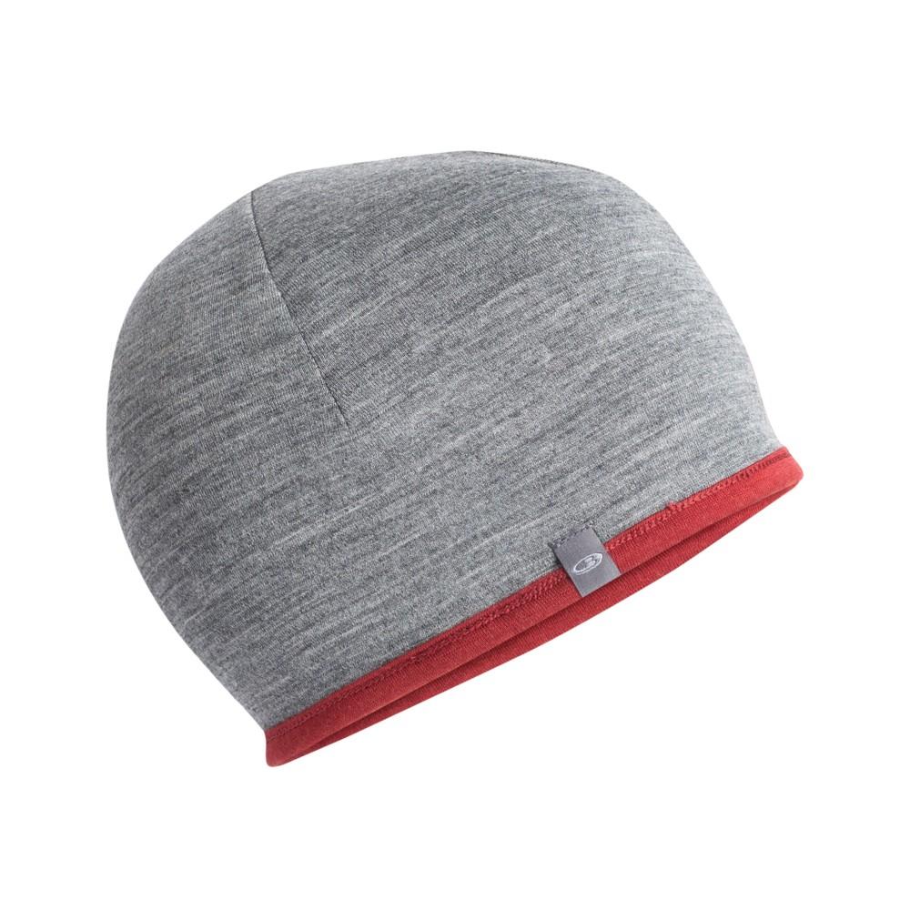 Icebreaker Pocket Hat Cabernet/Gritstone Heather