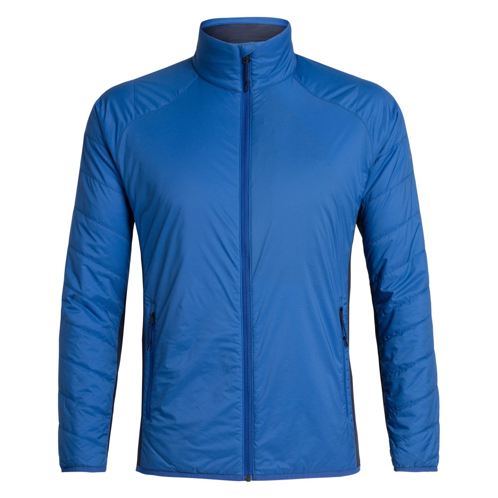 Icebreaker Hyperia Lite Hybrid Jacket Mens Surf/Midnight Navy