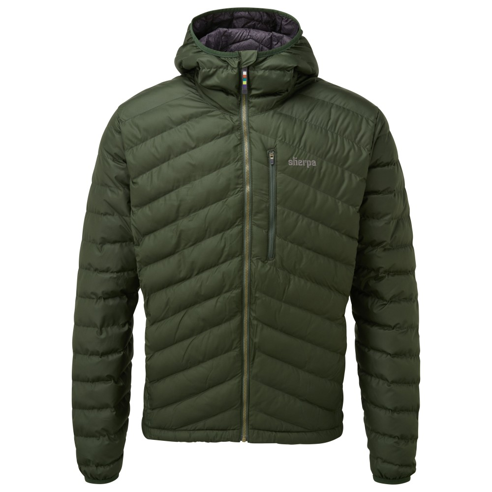 Sherpa Annapurna Hooded Jacket Mens Mewa Green