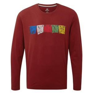 Sherpa Tarcho LS Tee Mens in Potala Red