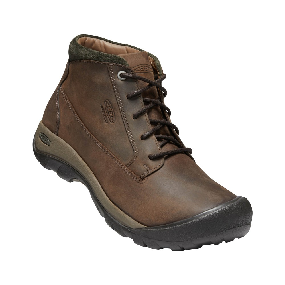 Keen Austin Casual Boot WP Mens Chocolate Brown/Black Olive