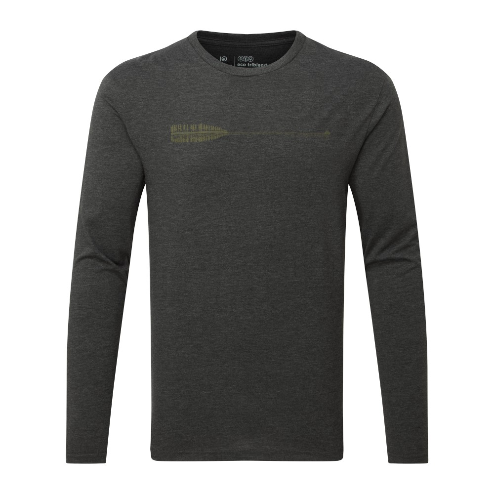 tentree Cove LS Mens Meteorite Black Heather