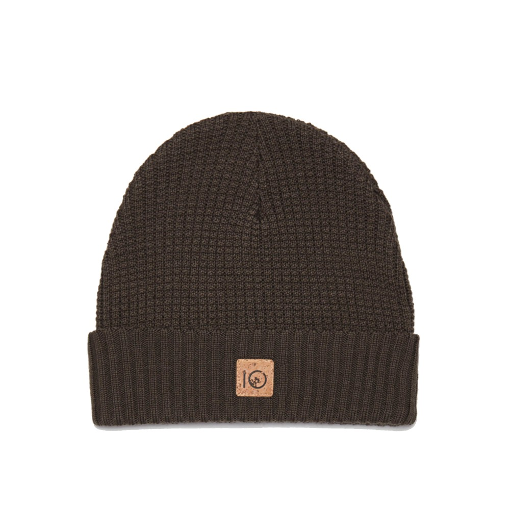 tentree Patch Beanie Bark Brown