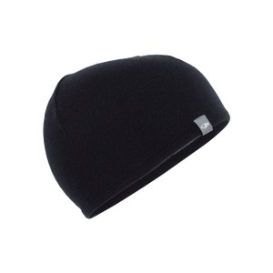 Icebreaker Pocket Hat in Black/Gritstone Heather II