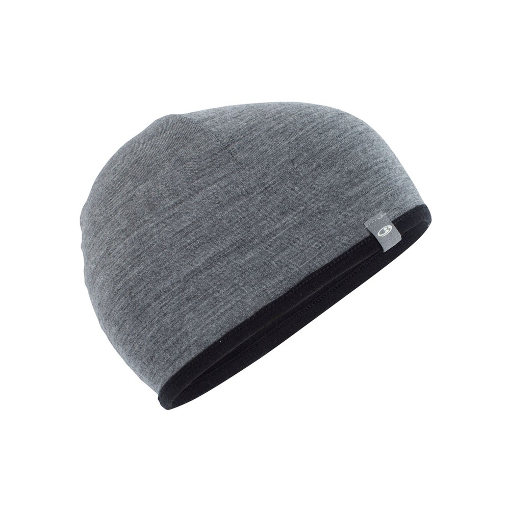 Icebreaker Pocket Hat Black/Gritstone Heather II