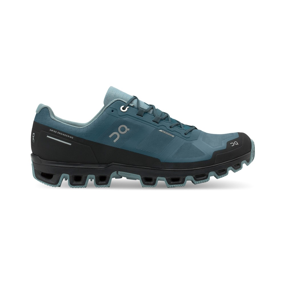 On Running Cloudventure Waterproof Mens Storm/Cobble