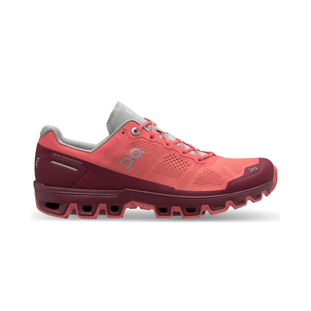 On Running Cloudventure Womens Coral/Mulberry