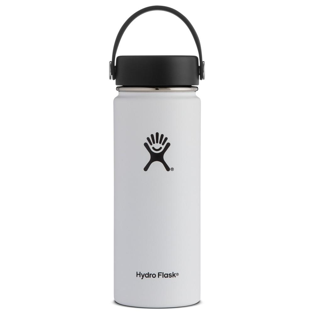 Hydro Flask 18oz Wide Mouth w/Flex Cap WHITE