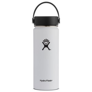 Hydro Flask 18oz Wide Mouth w/Flex Cap in WHITE