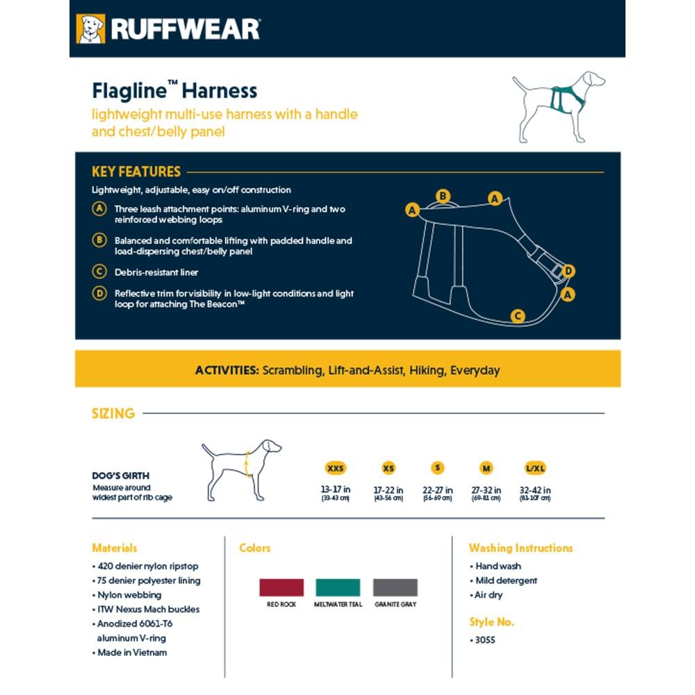 Ruffwear Flagline Harness Granite Grey