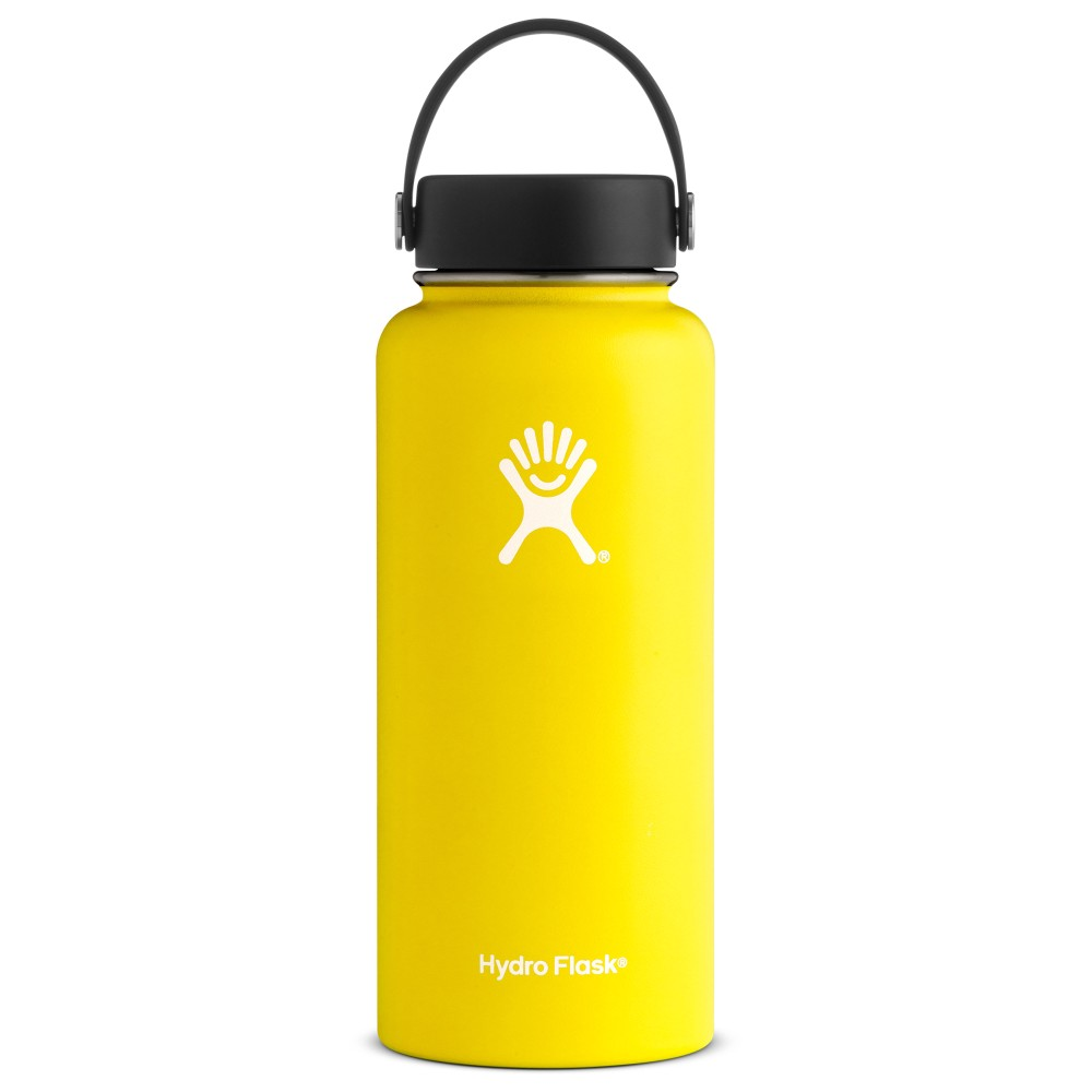 Hydro Flask 32oz Wide Mouth Lemon