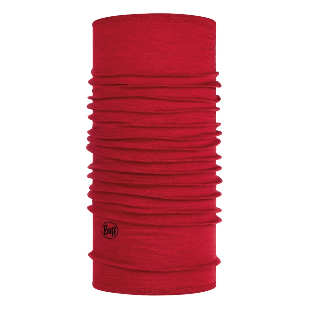 Buff Lightweight Wool Solid Red