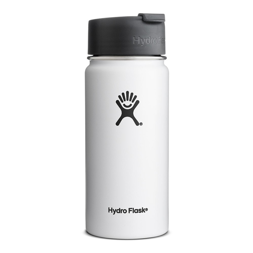 Hydro Flask 16oz Wide Mouth White