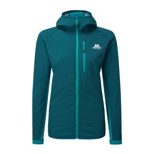 Mountain Equipment Switch Pro Hooded Jacket Womens in Legion/Pool Blue