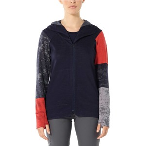 Icebreaker Away II LS Zip Hood Womens