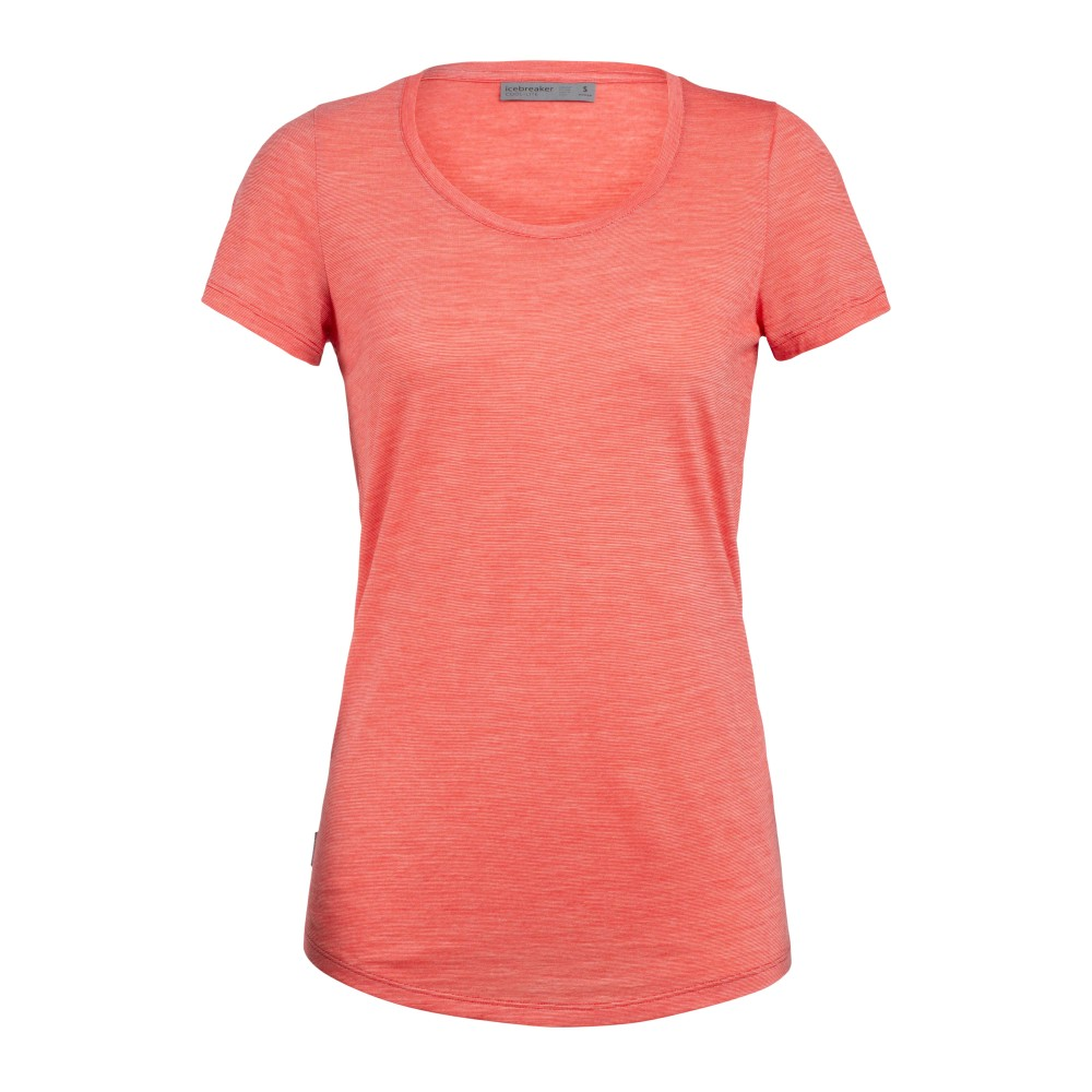 Icebreaker Sphere SS Scoop Womens Fire