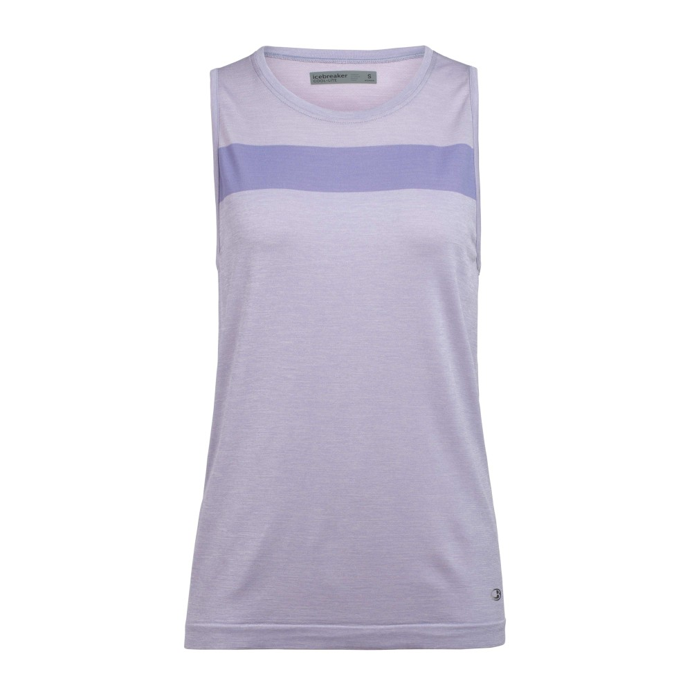 Icebreaker Motion Seamless Tank Womens Orchid Heather