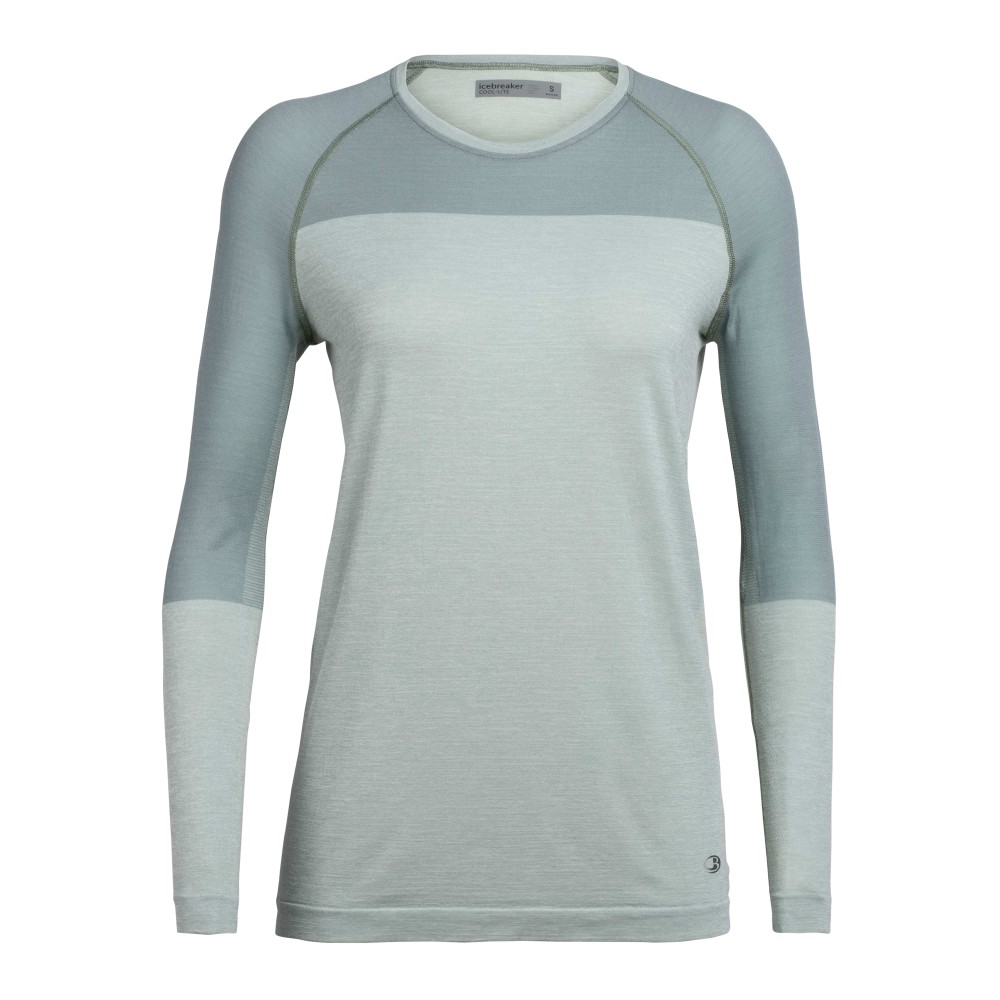Icebreaker Motion Seamless LS Crewe Womens Shale Heather