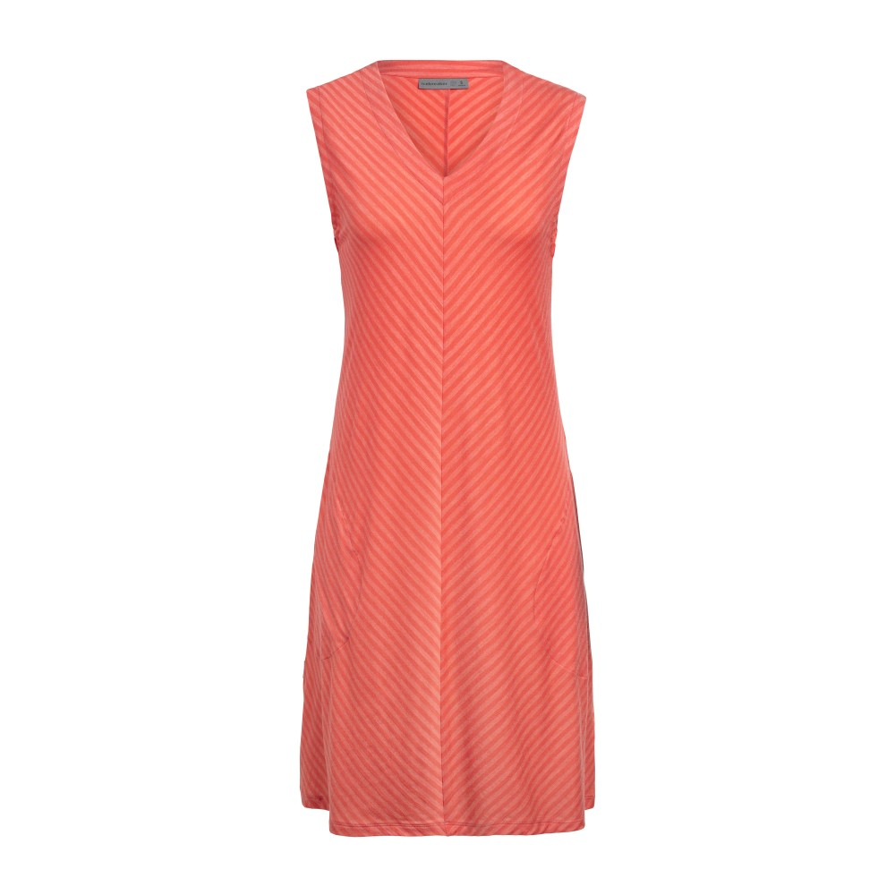 Icebreaker Elowen Sleeveless Dress Womens Hibiscus