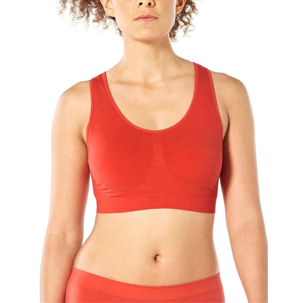 Icebreaker Anatomica Seamless Sport Bra Womens Fire