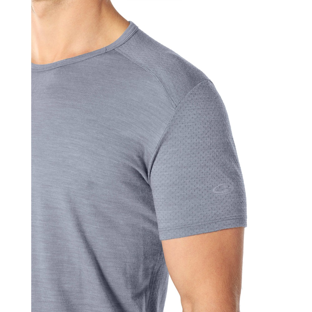 Icebreaker Amplify SS Crewe Mens Mineral Heather