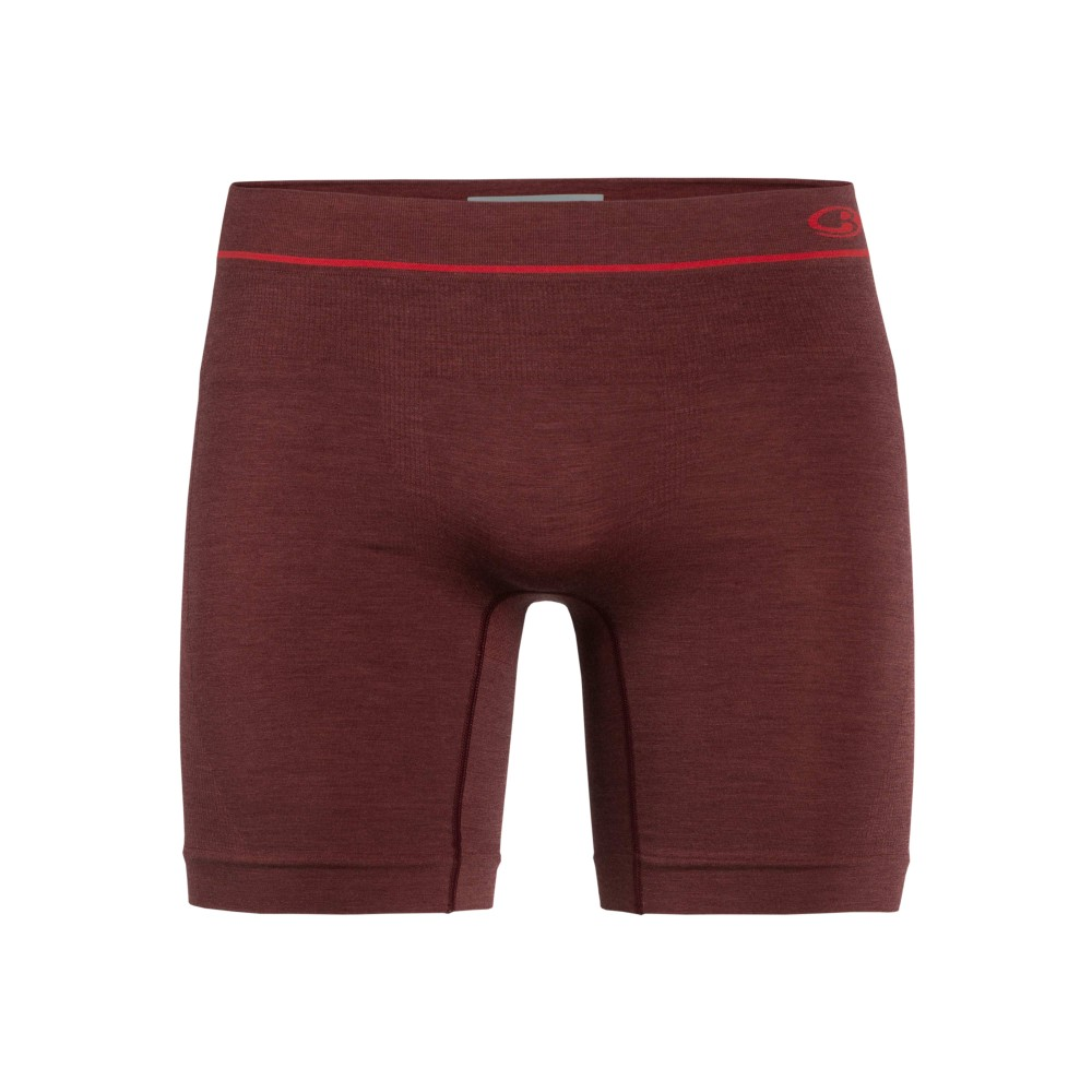 Icebreaker Anatomica Seamless Long Boxers Mens Port Royale