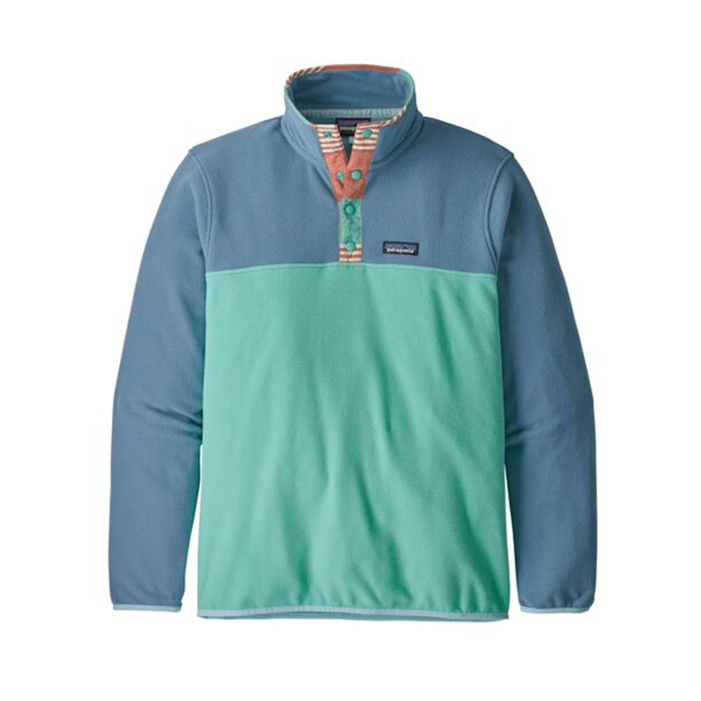 Patagonia Micro D Snap-T Pullover Mens Light Beryl Green