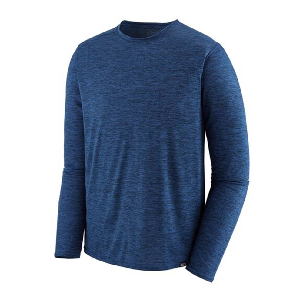 Patagonia LS Cap Cool Daily Shirt Mens Viking Blue/Navy Blue
