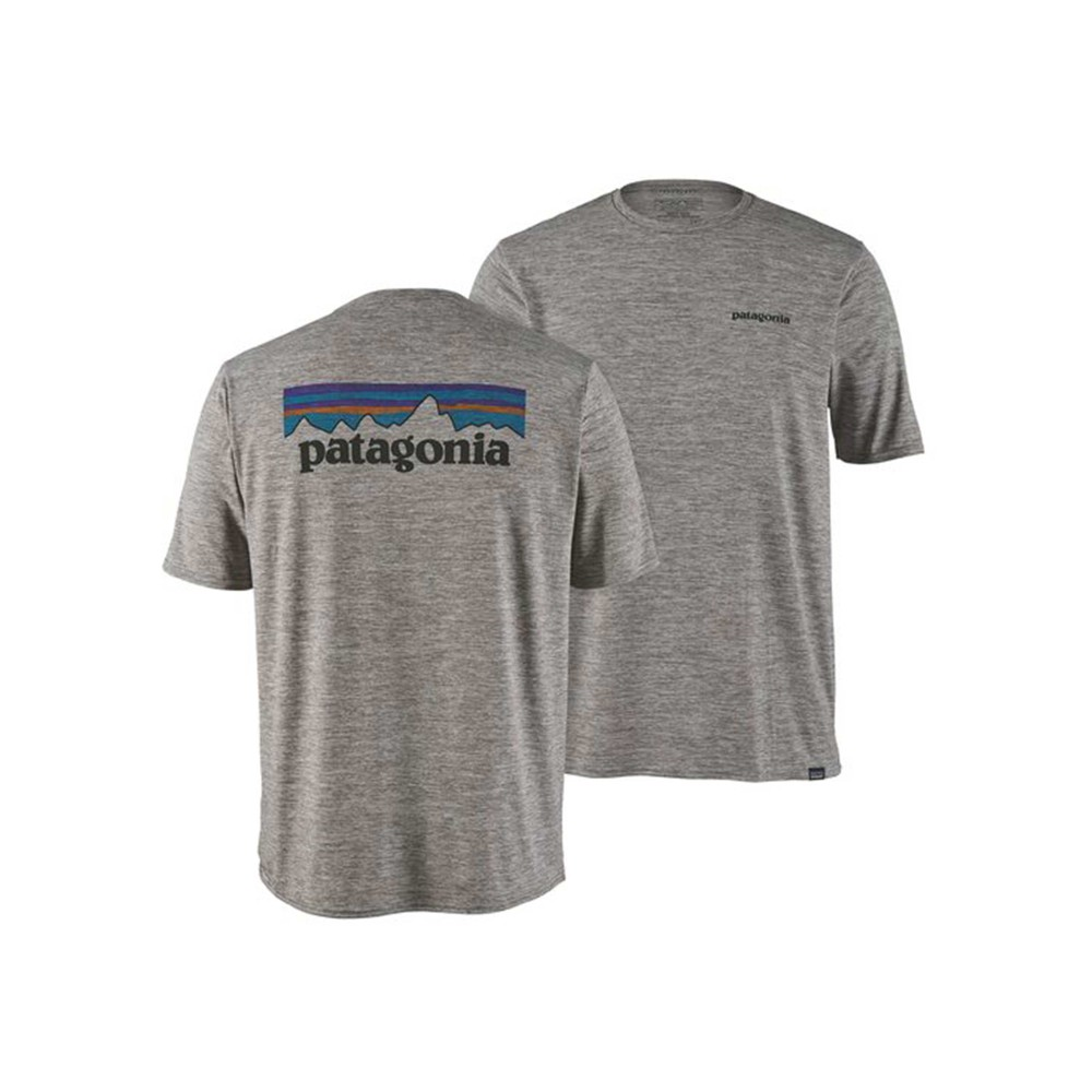 Patagonia Cap Cool Daily Graphic Shirt Mens P-6 Logo: Feather Grey