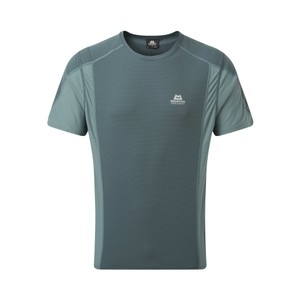 Mountain Equipment Ignis Tee Mens in Moorland/Goblin Blue