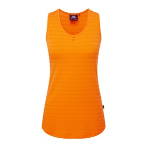 Mountain Equipment Equinox Vest Womens in Orange Sherbet Stripe