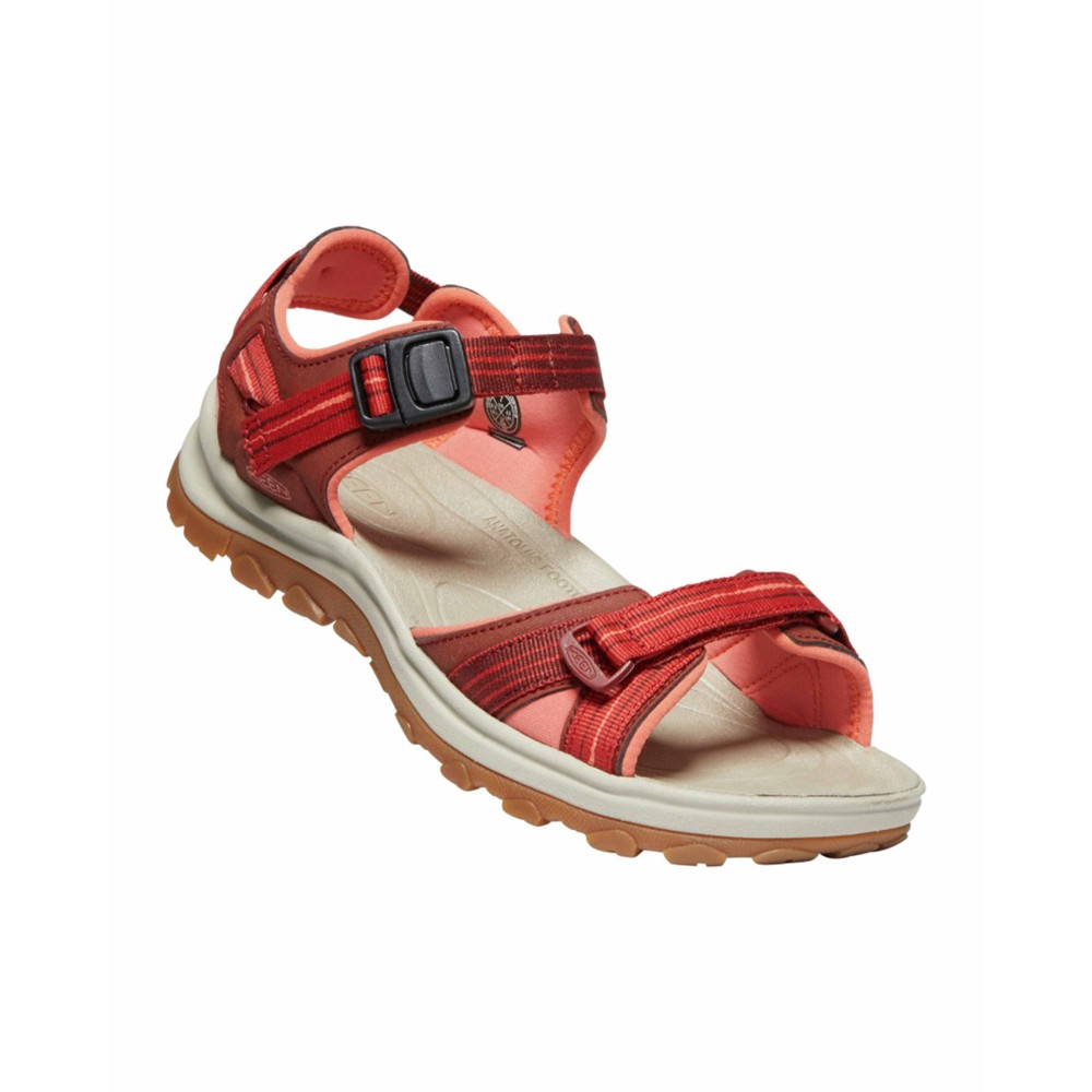 Keen Terradora II Open Toe Sandal Womens Dark Red/Coral