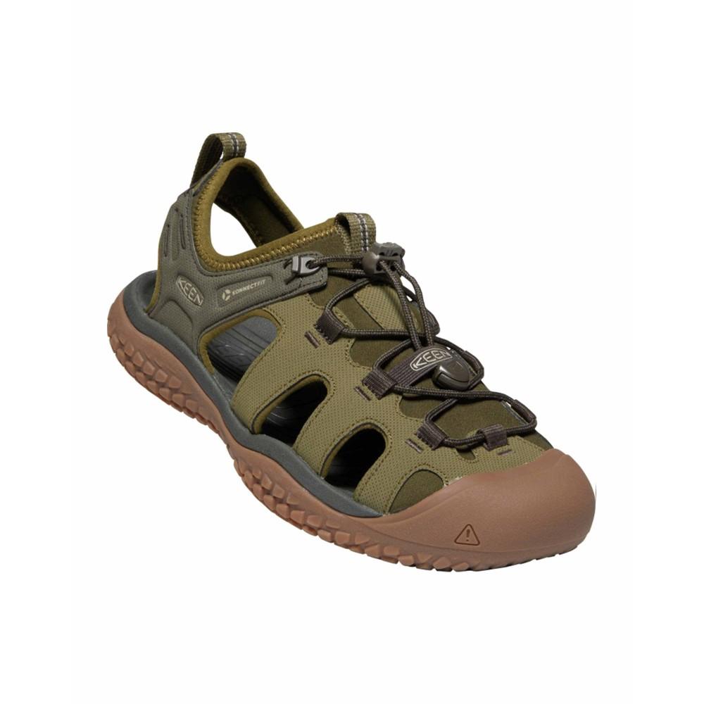 Keen Solr Sandal Mens Dark Olive/Taupe