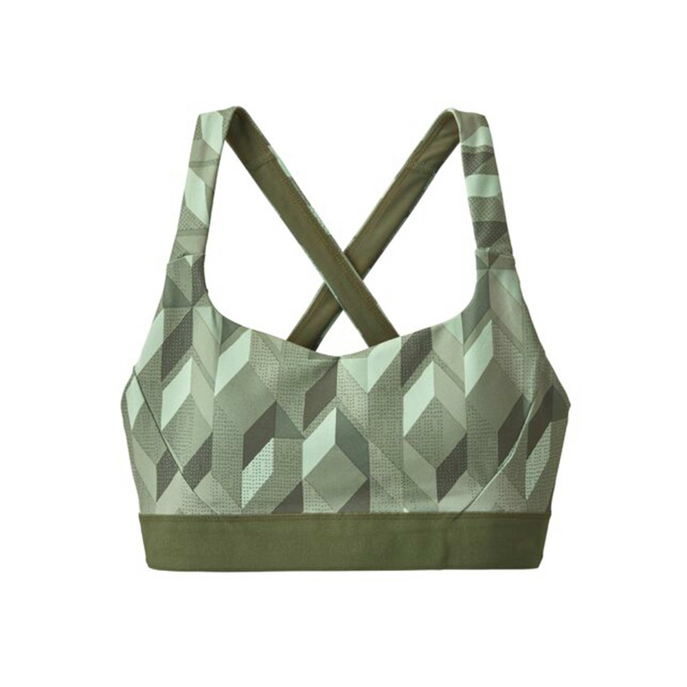 Patagonia Switchback Sports Bra Womens Fast Quilt:Gypsum Green