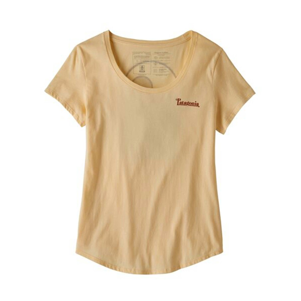 Patagonia Sunset Sets Organic Scoop T-Shirt Womens Vela Peach